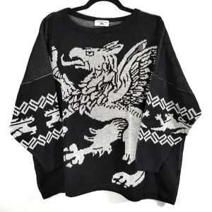 VTG Turtle Bay Black & White Griffin Sweater / XL